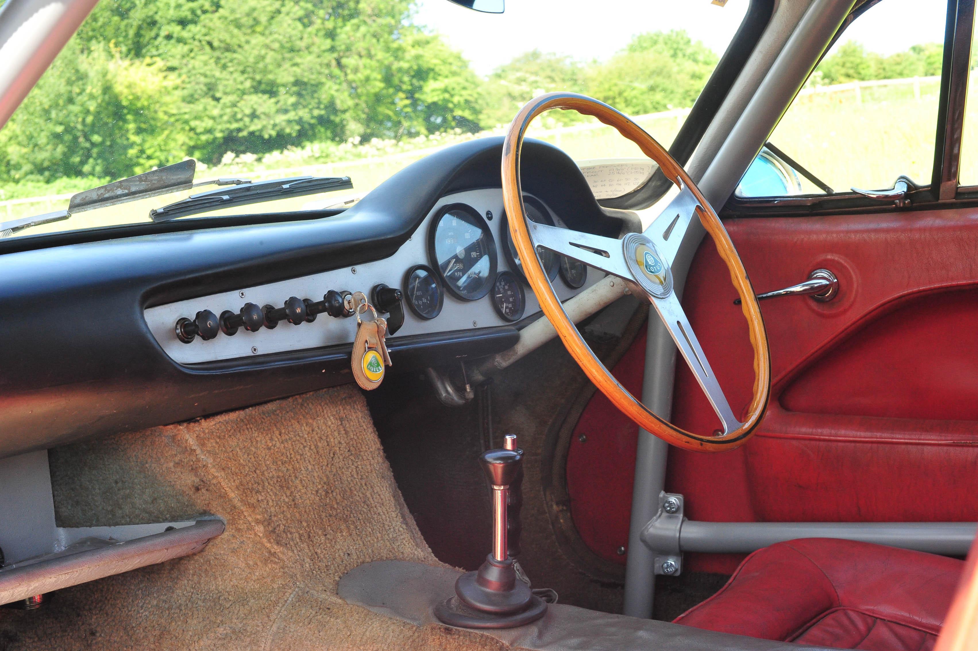 1961 Type 14 Lotus Elite interior red