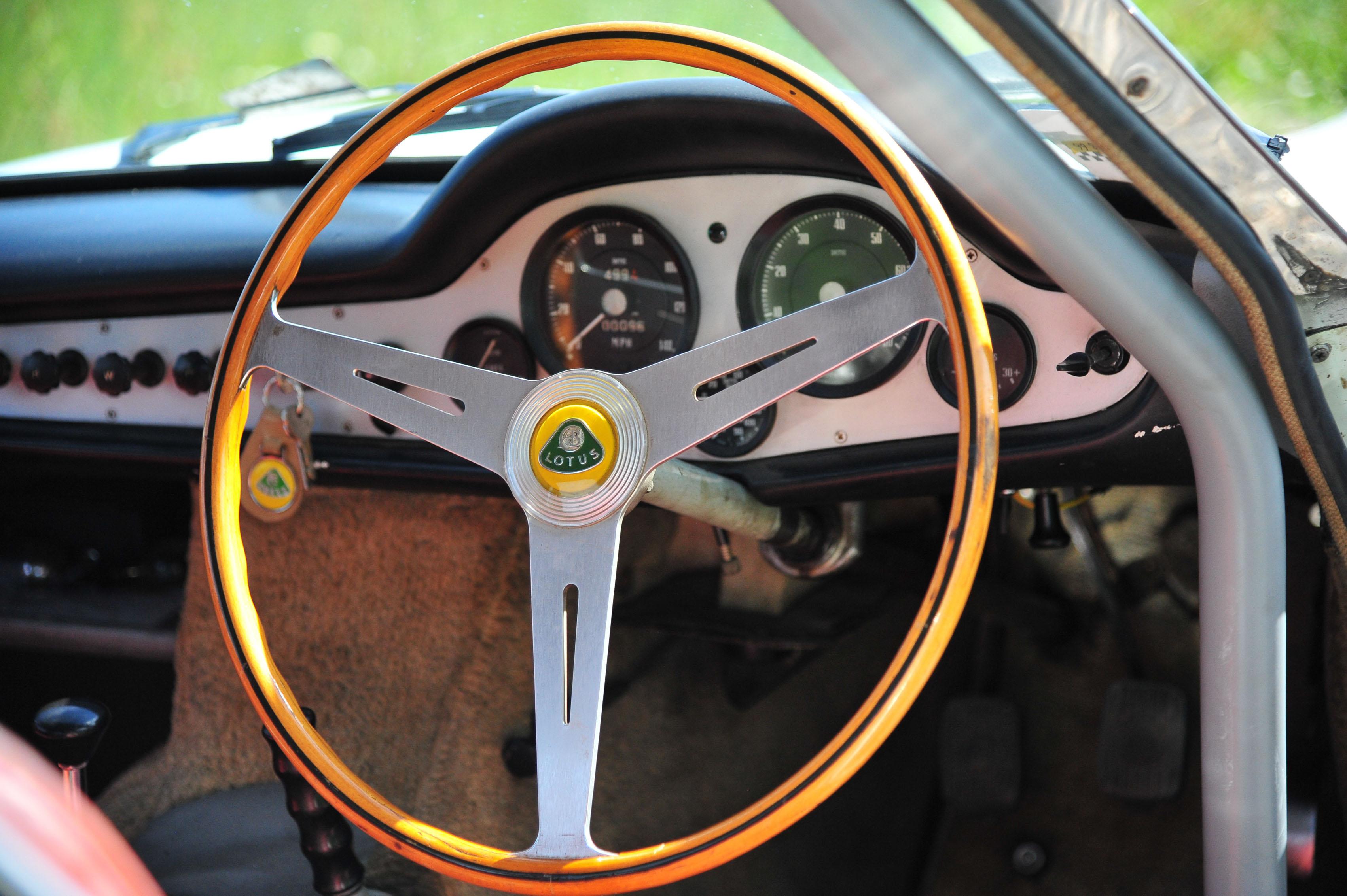 1961 Type 14 Lotus Elite steering wheel
