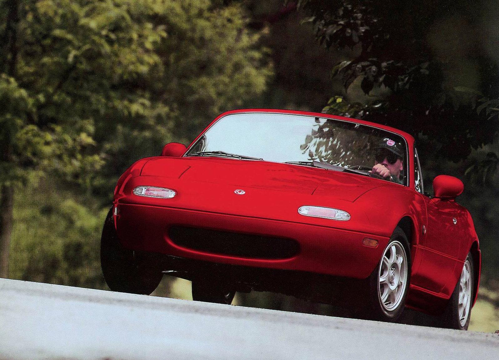 1990 Mazda MX-5 Miata front 3/4 forrest