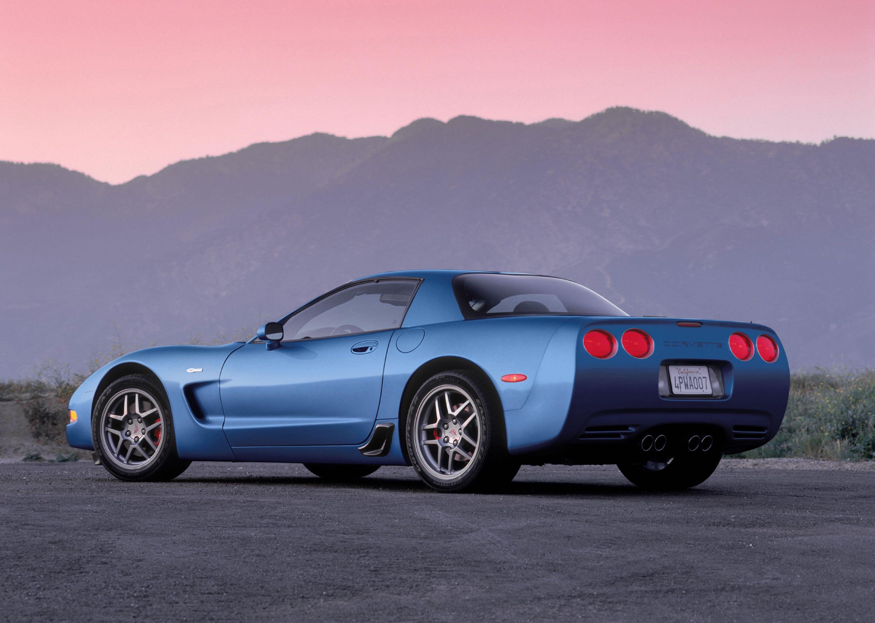 2002 Corvette Z06 blue sunset