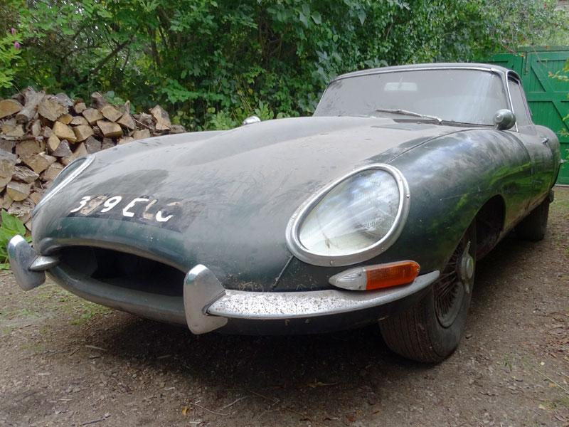 1962 Jaguar E-Type 3.8 Coupe passenger 3/4