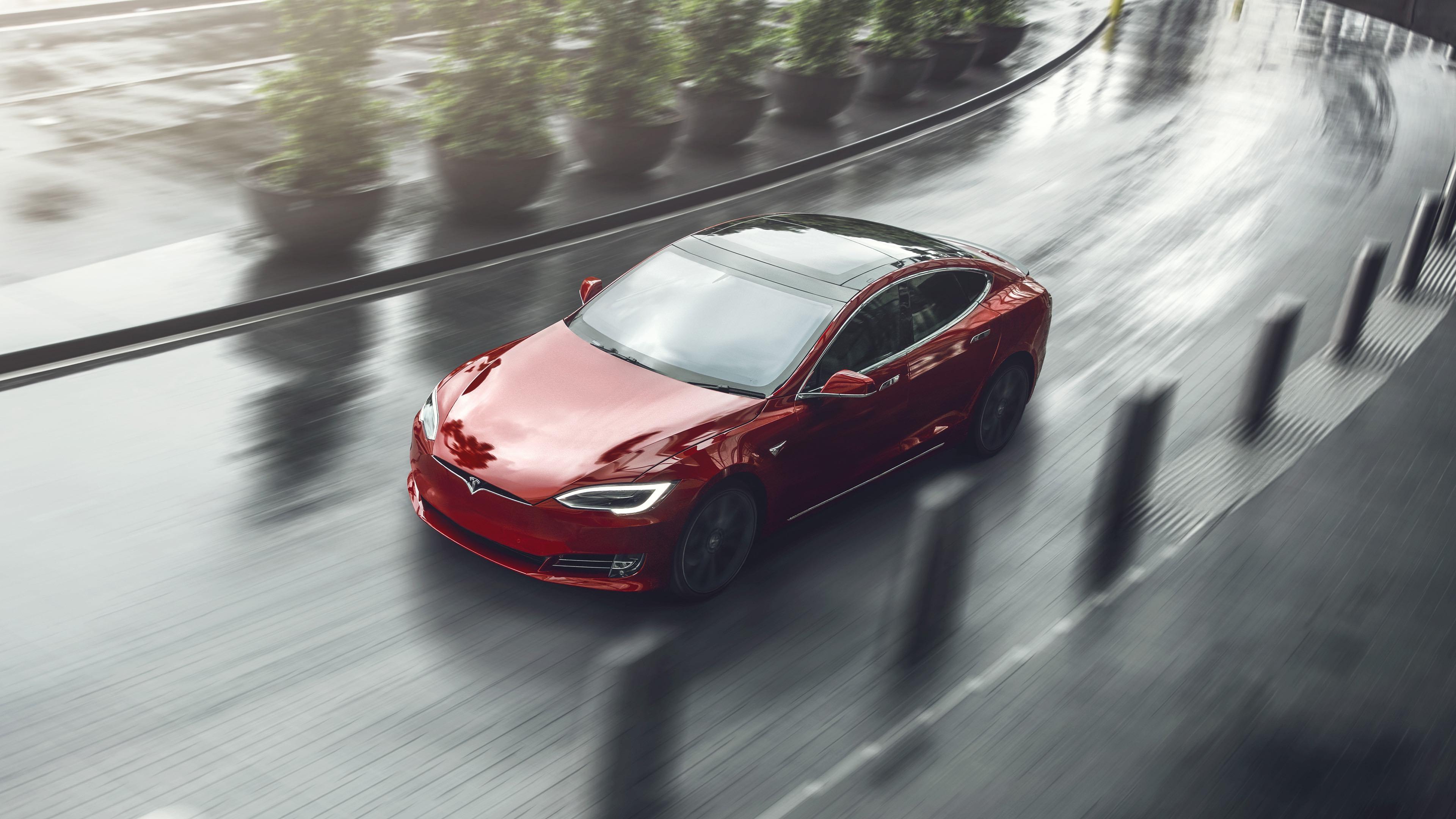 2018 Tesla Model S rain red