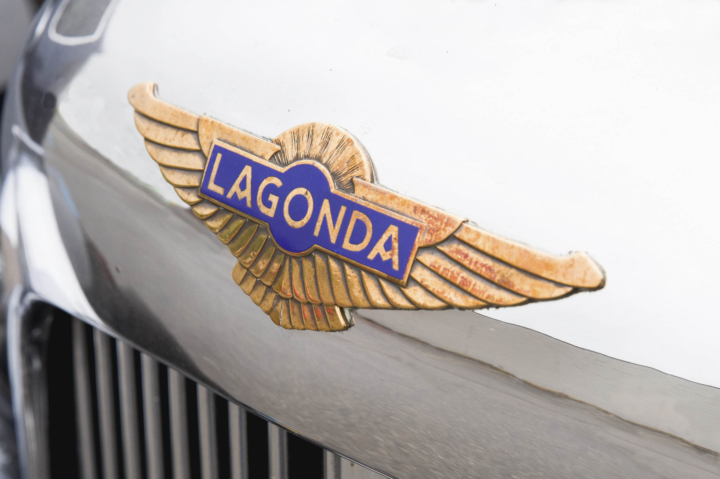 The Lagonda badge suggests the marque's Native American connection.
