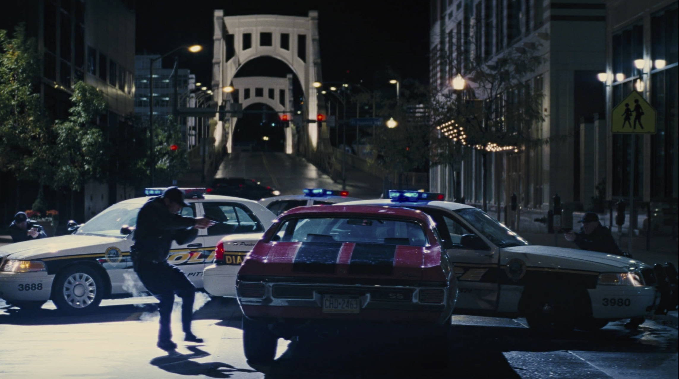 jack reacher chevelle hits cop car