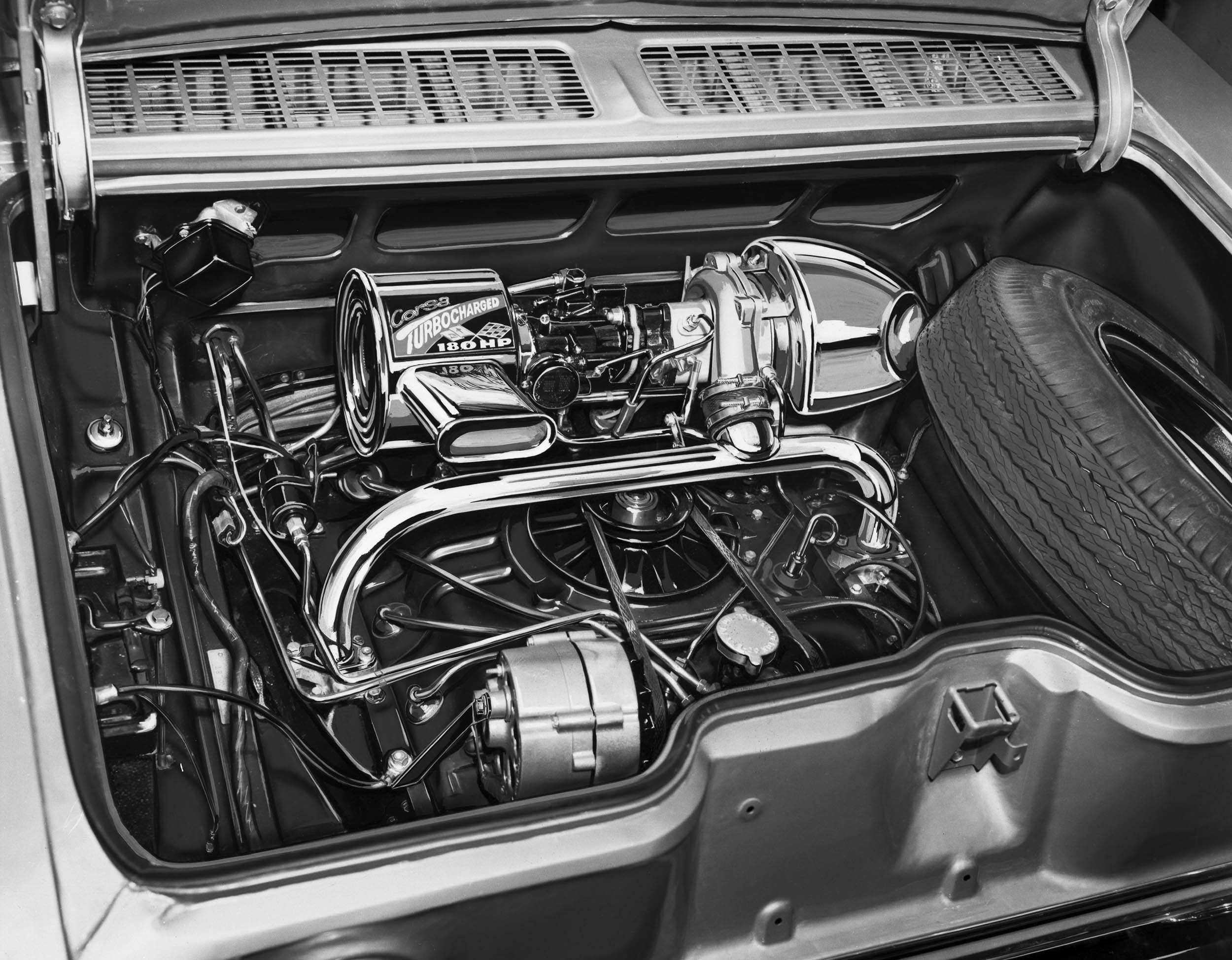 Turbo-Charged 164 Corvair engine good for 180 hp