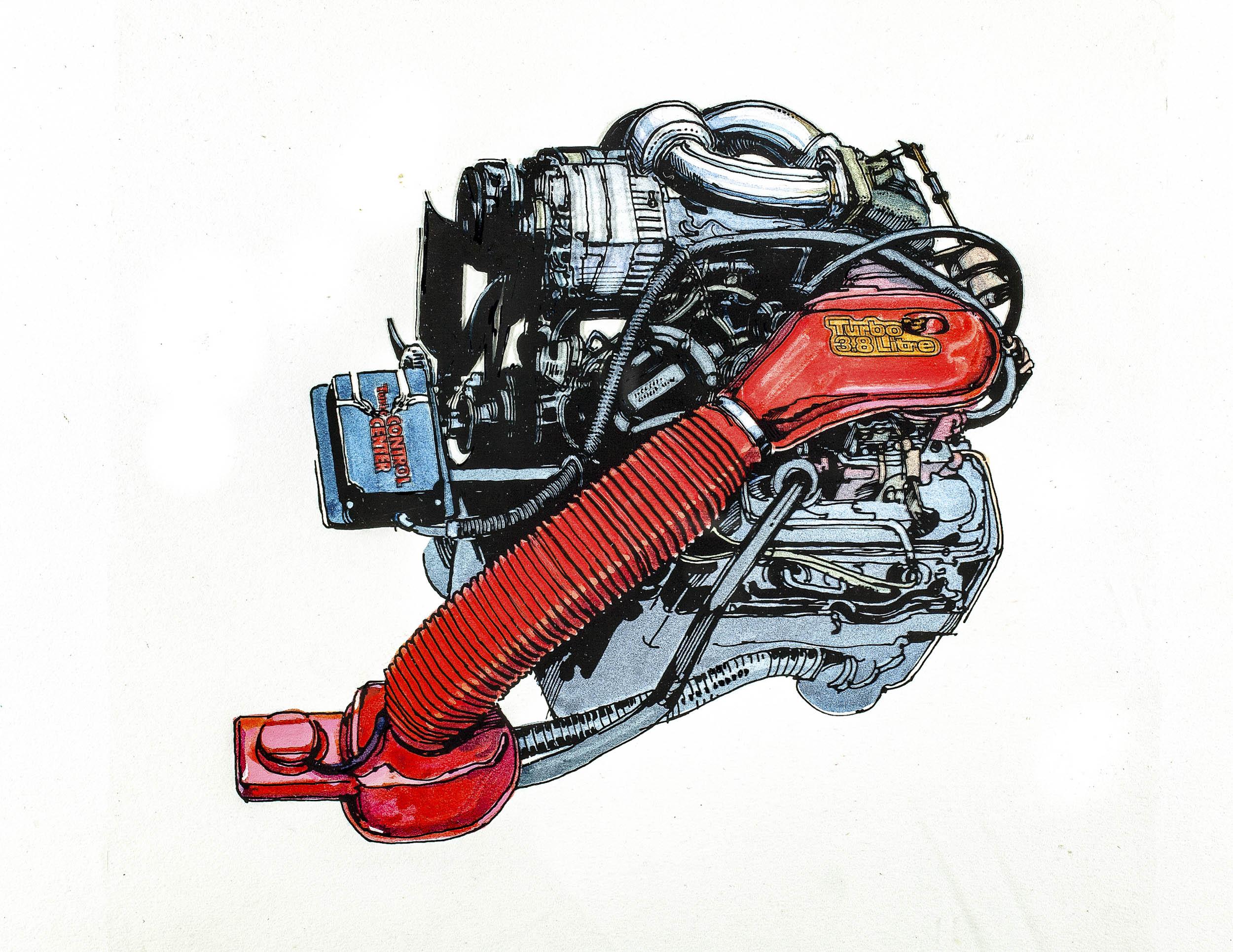 The 1978 Buick 3.8-liter turbocharged V-6