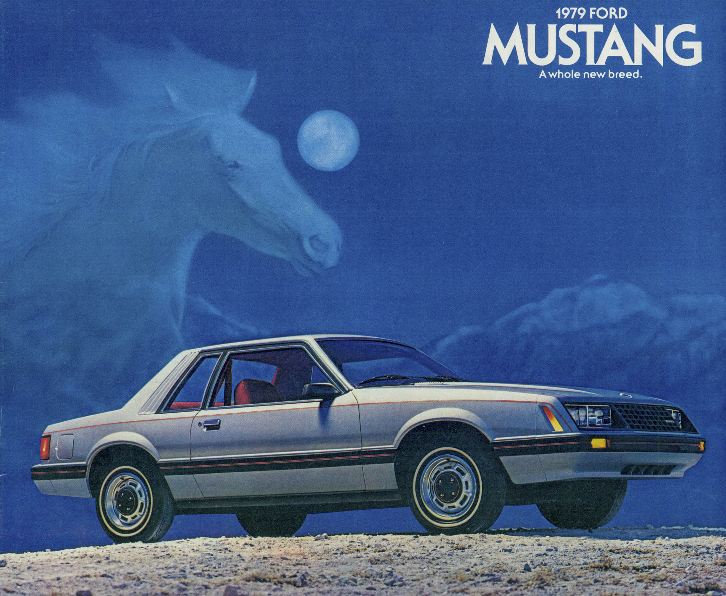 Ford Mustang brochure cover art