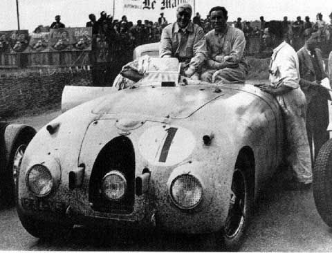 1939 24 Hours of Lemans Winners: Jean-Pierre Wimille, Pierre Veyron, and the Bugatti Type 57C Tank