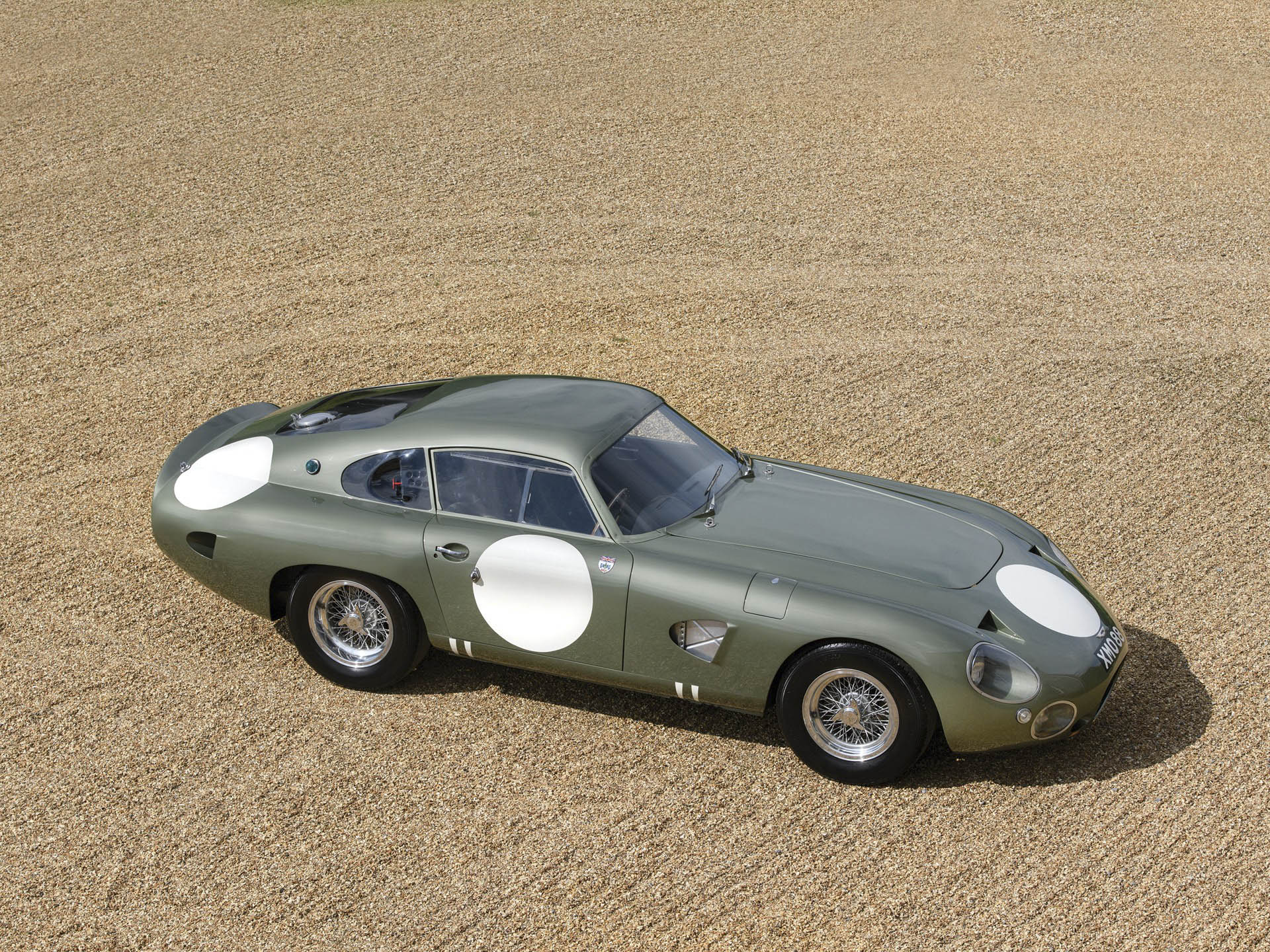 1963 Aston Martin DP215 Grand Touring Competition Prototype overhead
