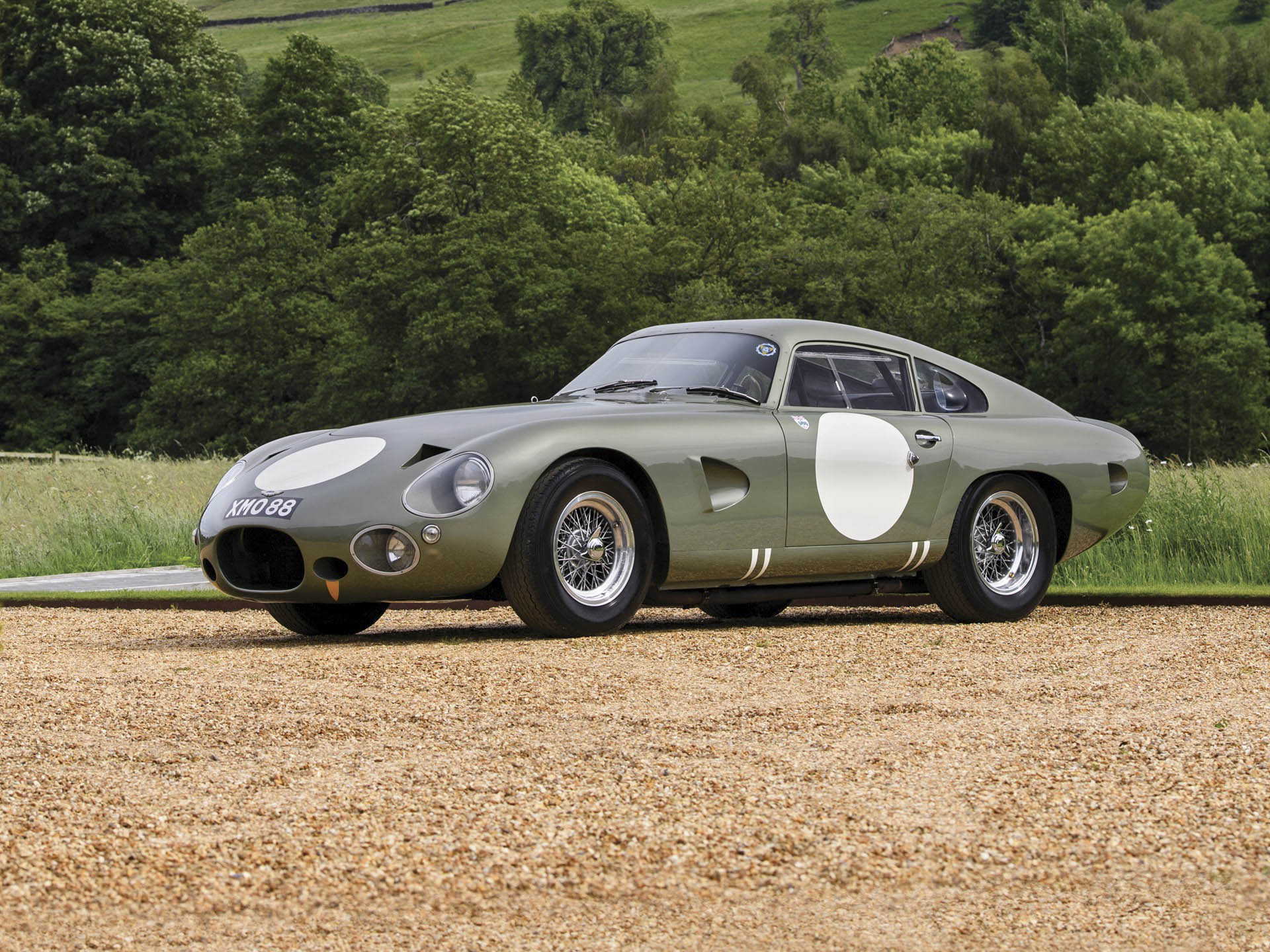 1963 Aston Martin DP215 Grand Touring Competition Prototype front 3/4