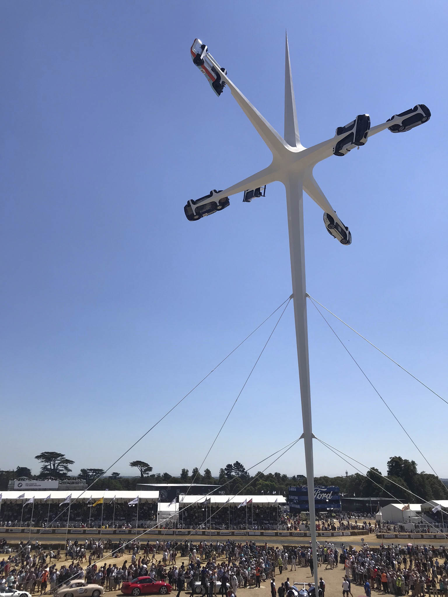 Goodwood Festival of Speed central display, 2018.