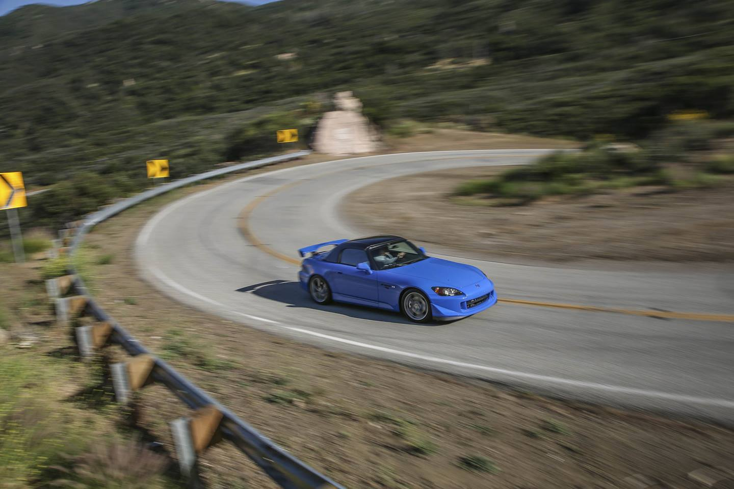 Honda S2000 turning corner