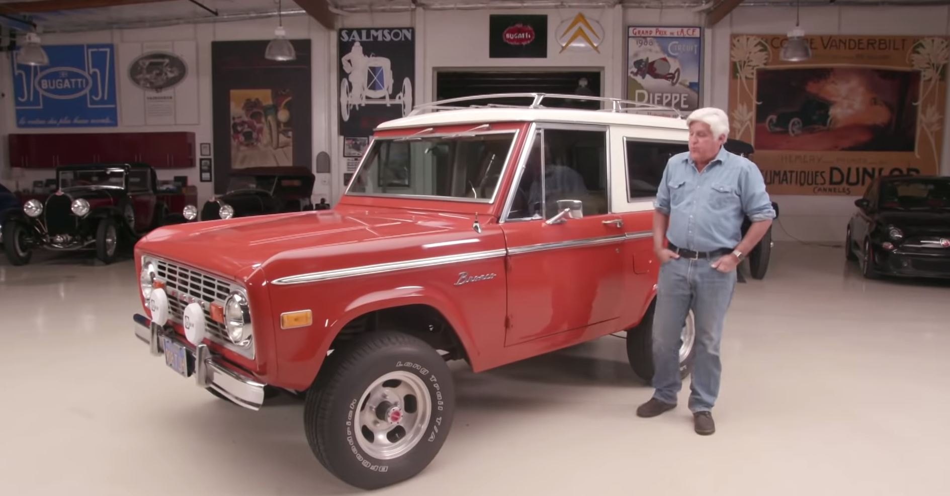Jay Leno and Dave Kunz bond over a 1977 Ford Bronco thumbnail