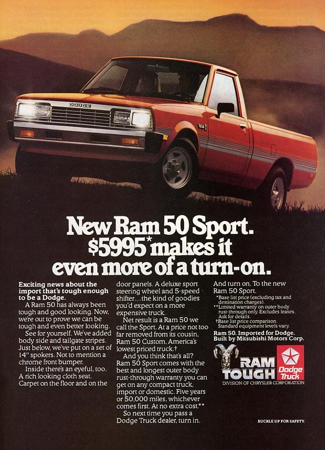 Dodge D-50 pickup truck Ad