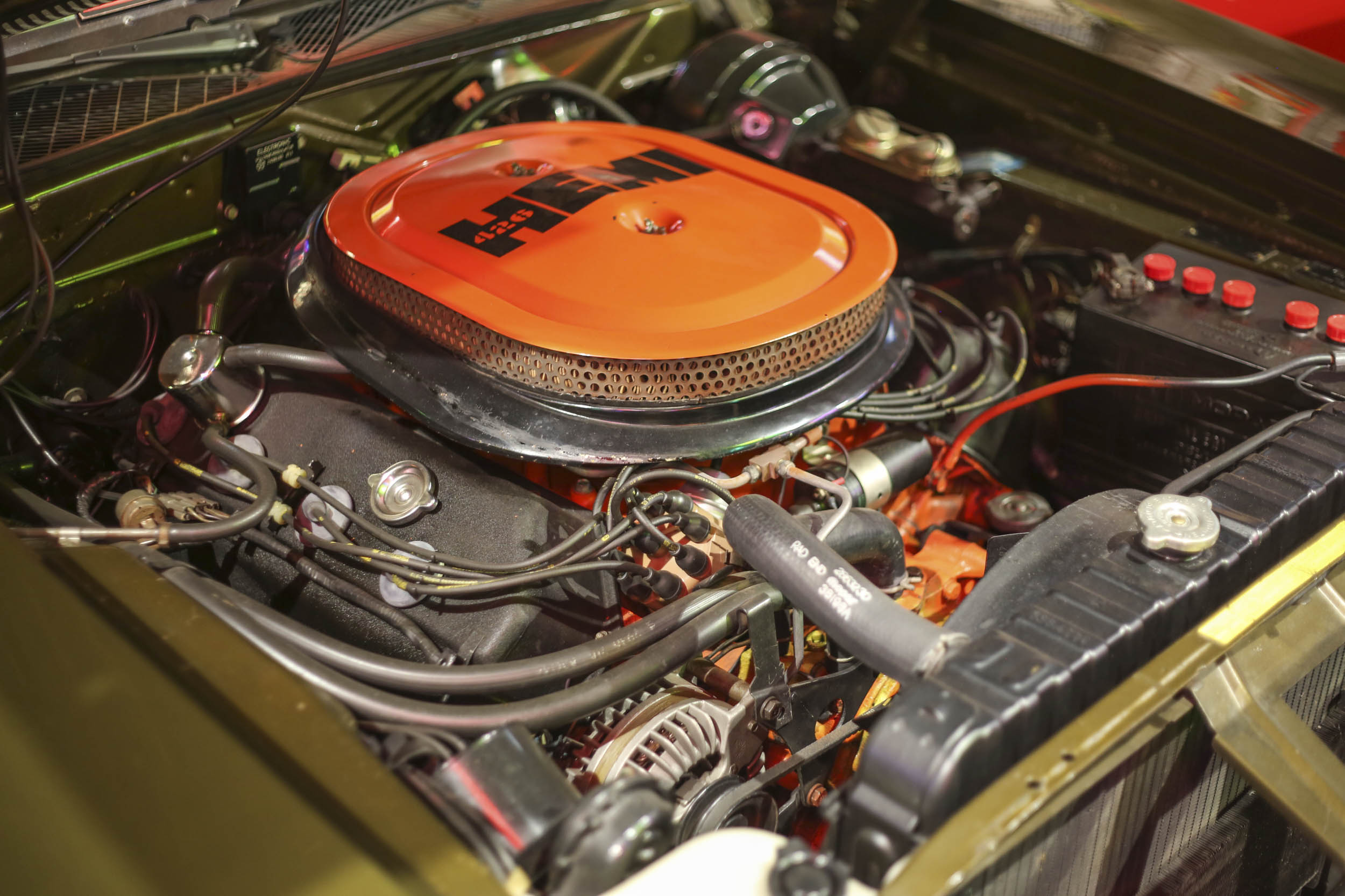 The 1971 Hemi Charger that his father owned is now a cornerstone of Tim's collection.