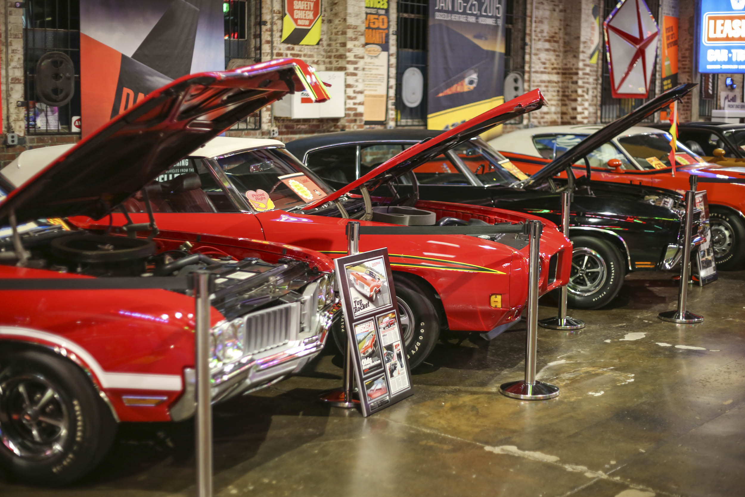 Muscle cars at the Wellborn Museum