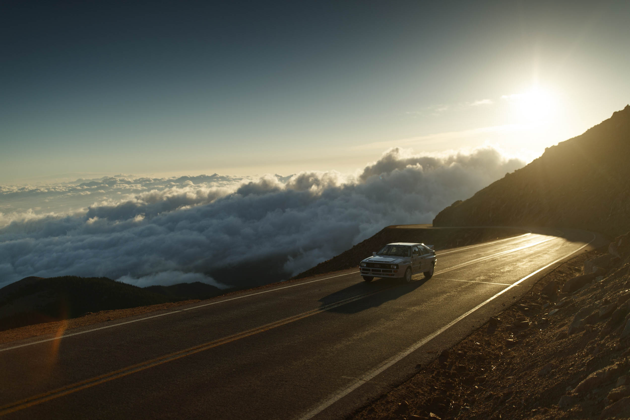 driving above the clouds