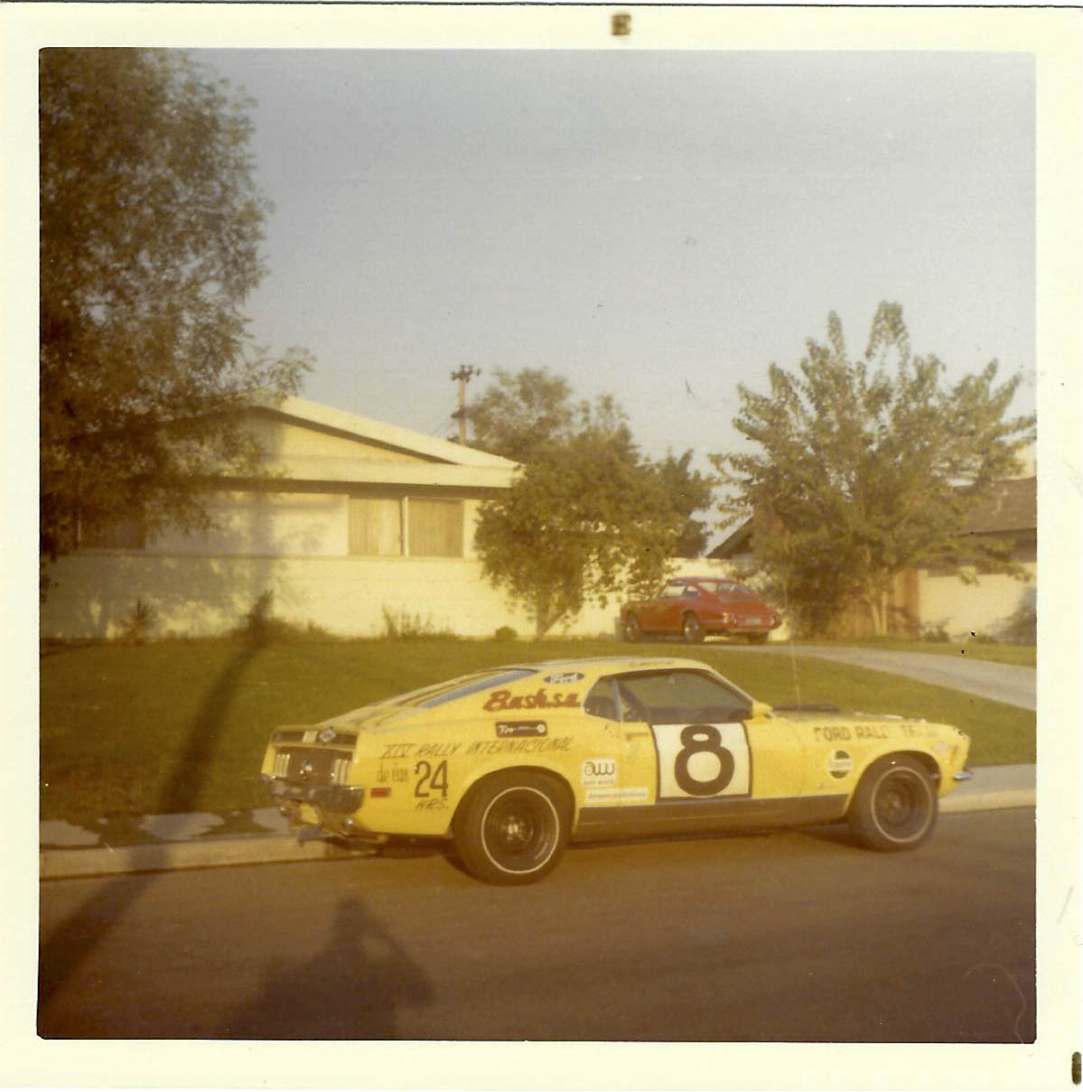 Ken Adams competed for the Ford Rally team at mostly West Coast events in a 1970 Cobra Jet Mach 1.