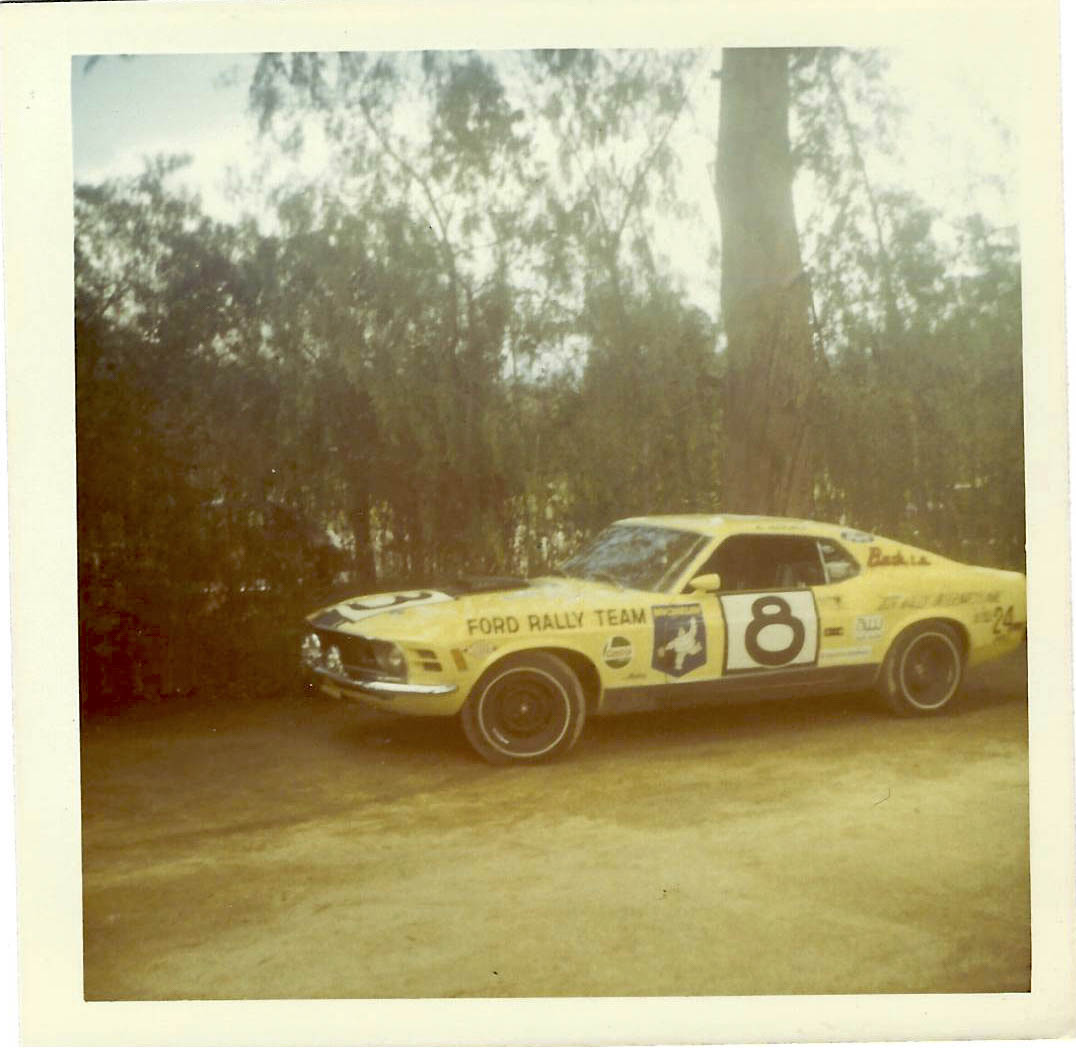 The Michelin Man on Ken Adams' Mach 1 indicates the Ford Rally Team's switch from bias-ply to radial tires.