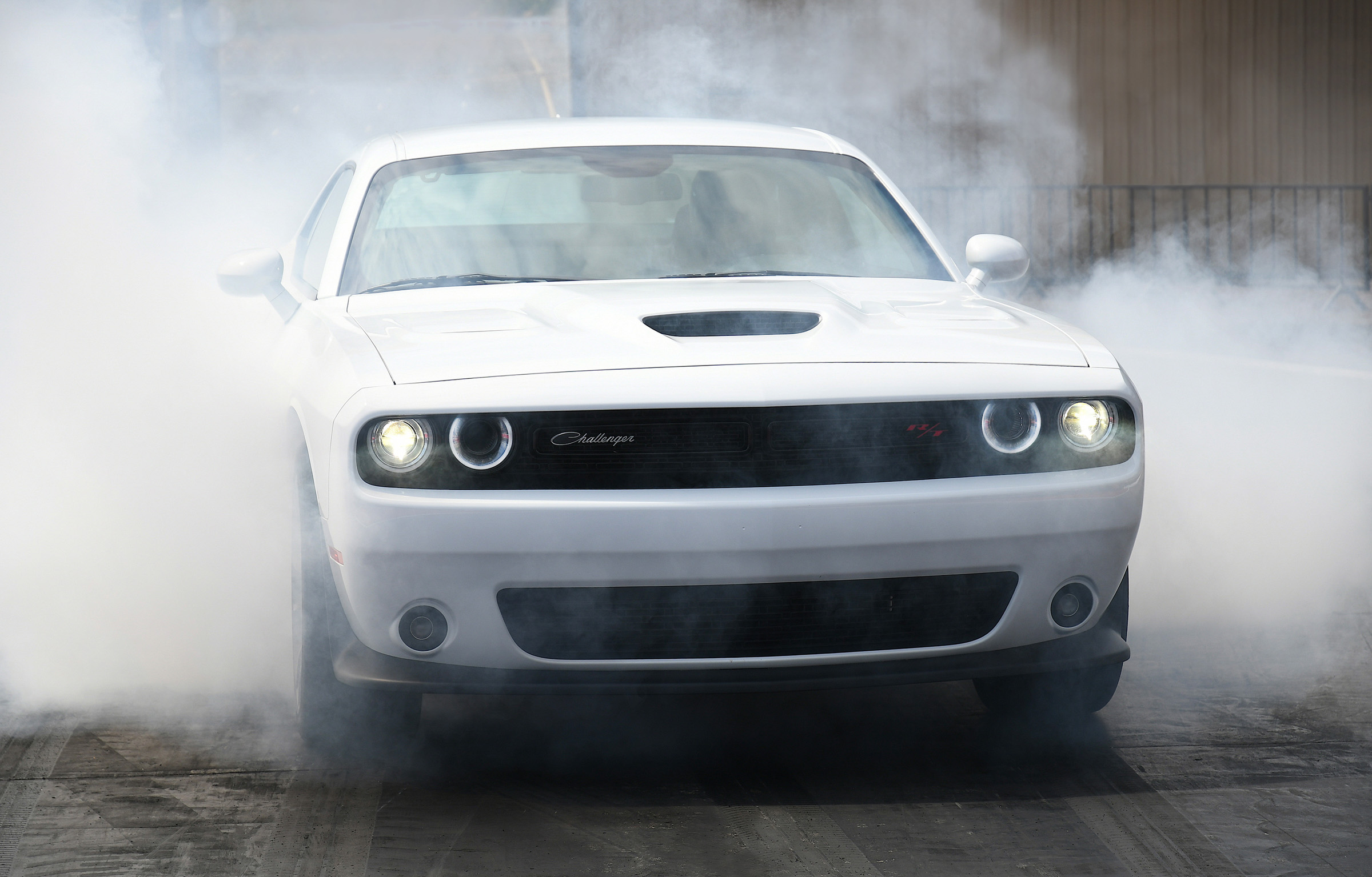 2019 Dodge Challenger R/T Scat Pack 1320 white burnout