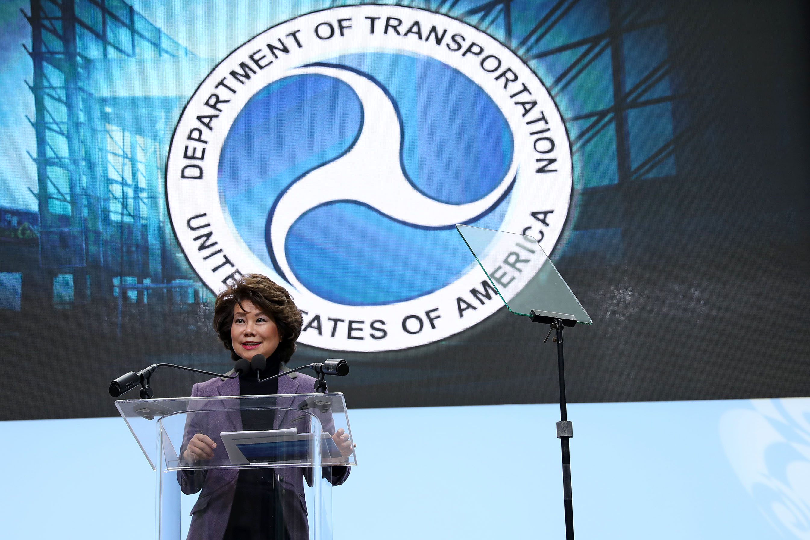 Elaine Chao, U.S. Secretary of Transportation.