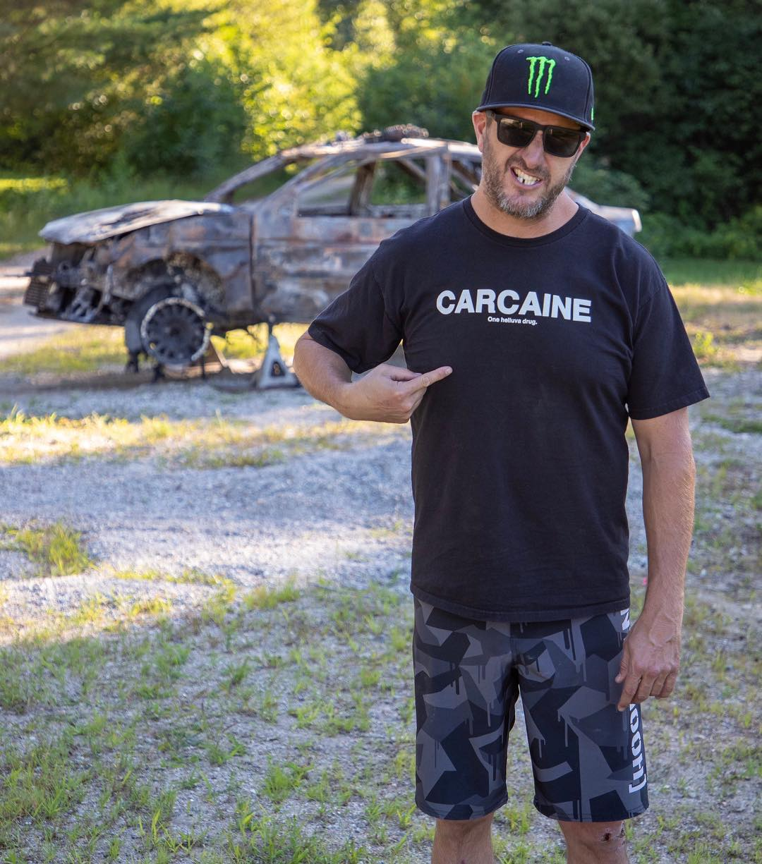 Ken Block Carcaine toasted remains of ford escort