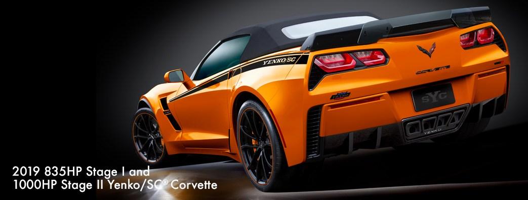 2019 Yenko Corvette Stage II Orange rear