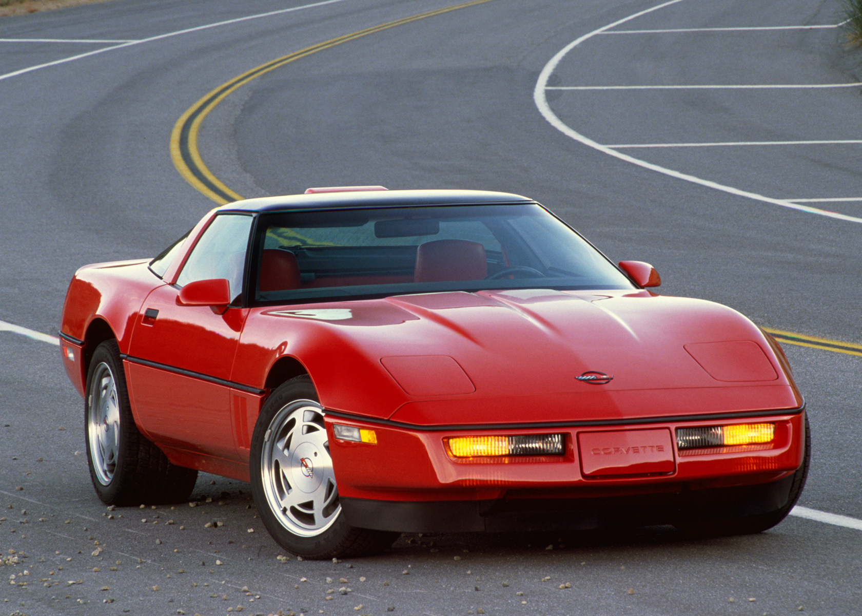 1990 Chevrolet Corvette ZR-1 red front 3/4