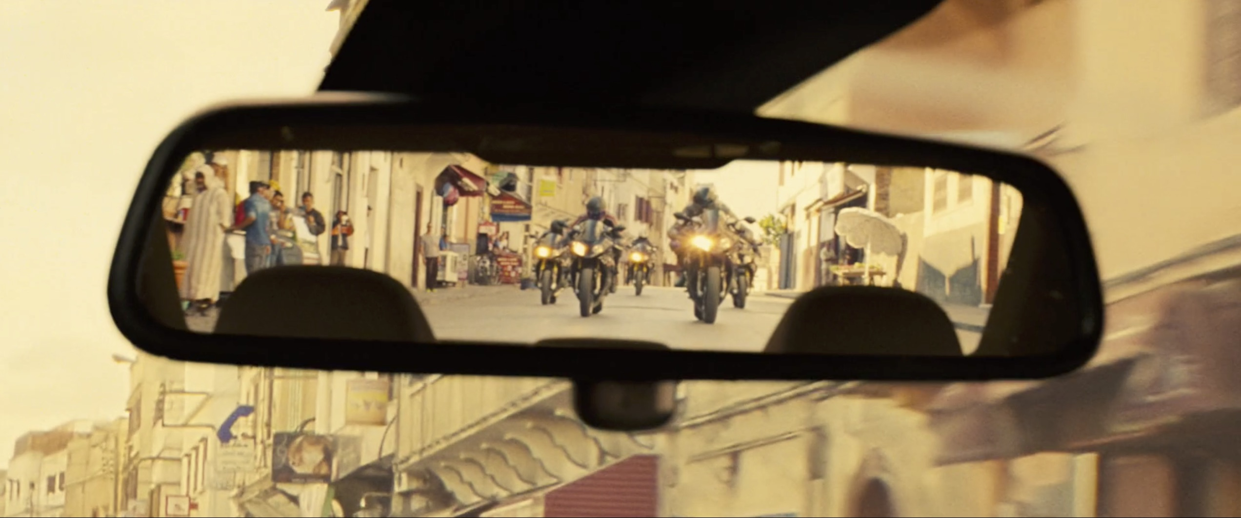 Mission Impossible: Rogue Nation motorcycle rearview mirror