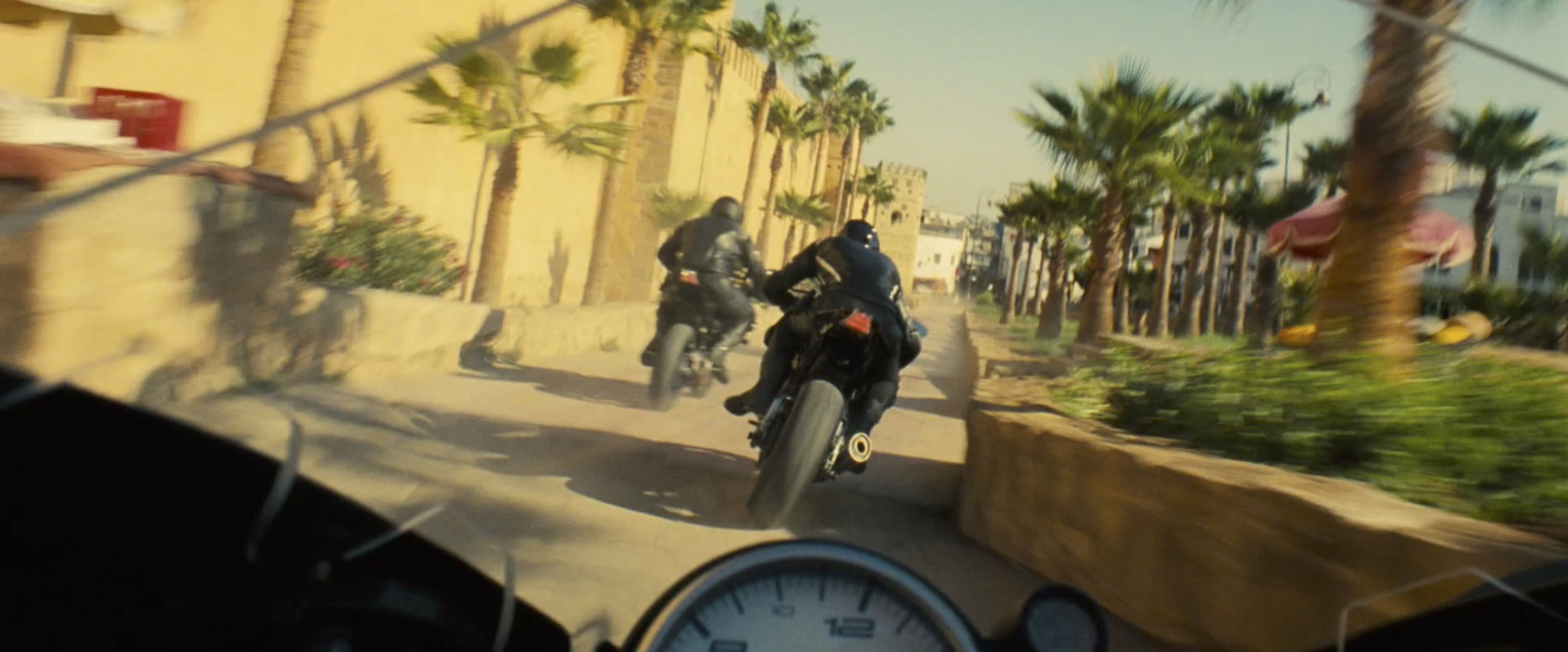 Mission Impossible: Rogue Nation motorcycle chase scene