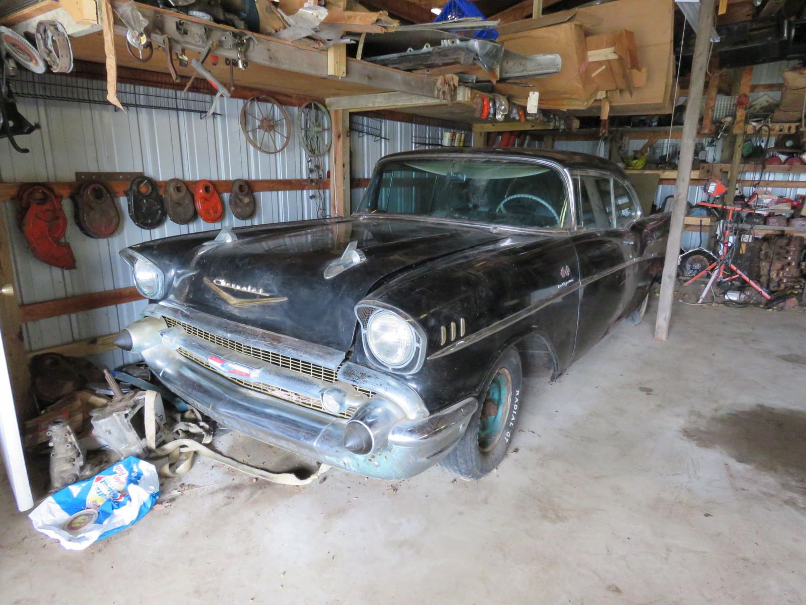 1957 Chevrolet Belair Fuel Injected 2dr Hardtop barn find