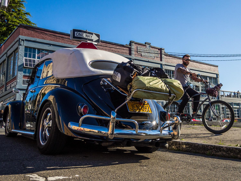 treffen vw beetle luggage rack bike