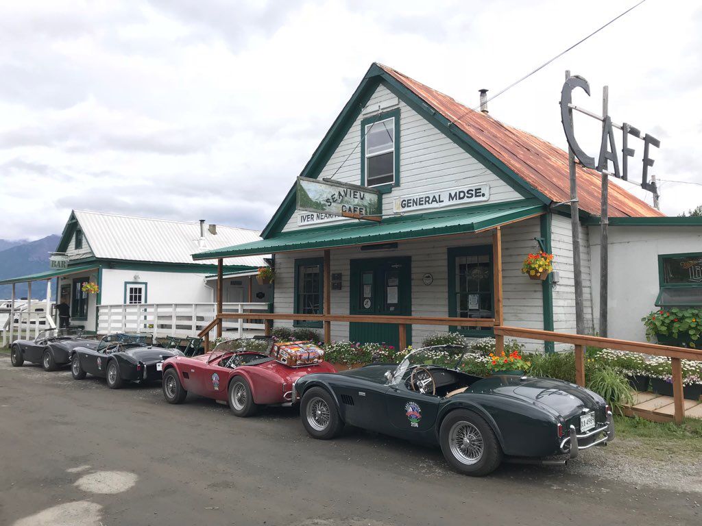 seaview cafe 1965 shelby cobra alaska road trip