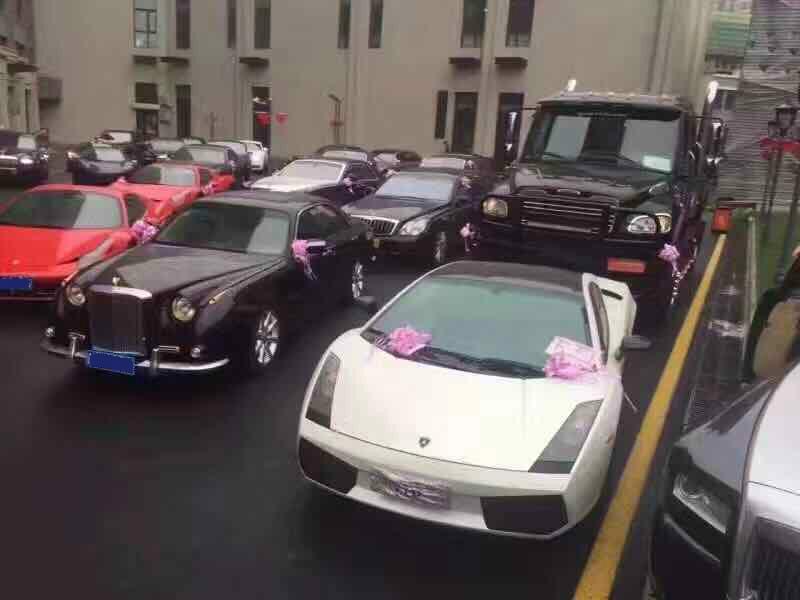 Lamborghini at a Chinese wedding