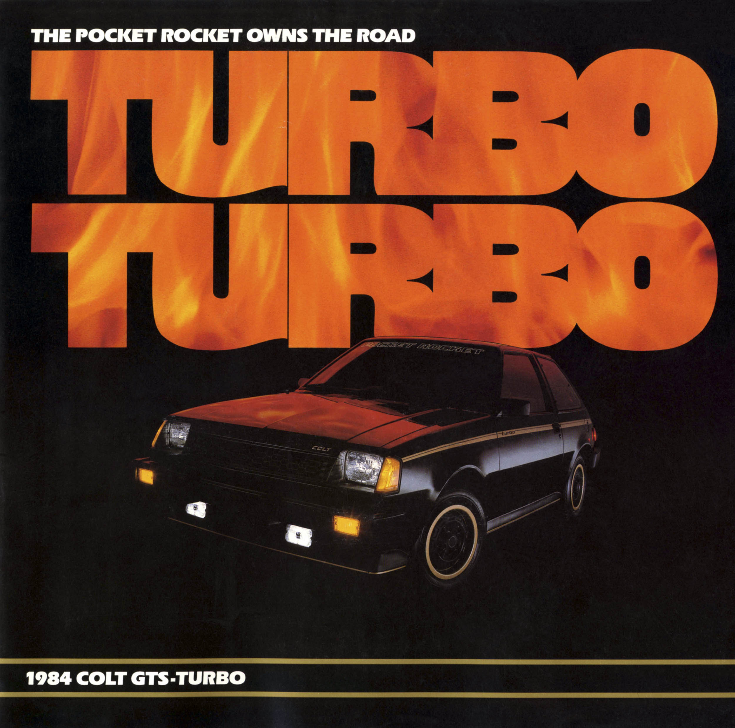 The 1984 Dodge Colt GTS packed a 30-plus horsepower bump from the naturally-aspirated base model and retained the Twin Stick dual-range four-speed transmission for turbo power and economy.