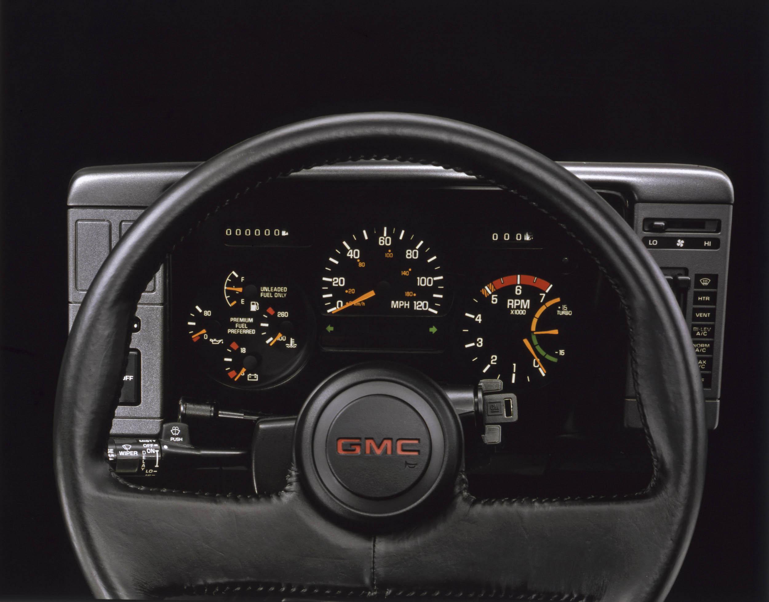 GMC Syclone gauge cluster