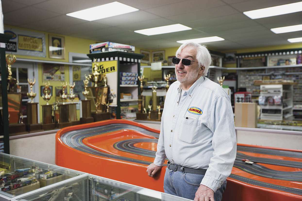 No one else in America has a deeper knowledge of Aurora slot cars than Beers, and his collection of memorabilia is second to none.