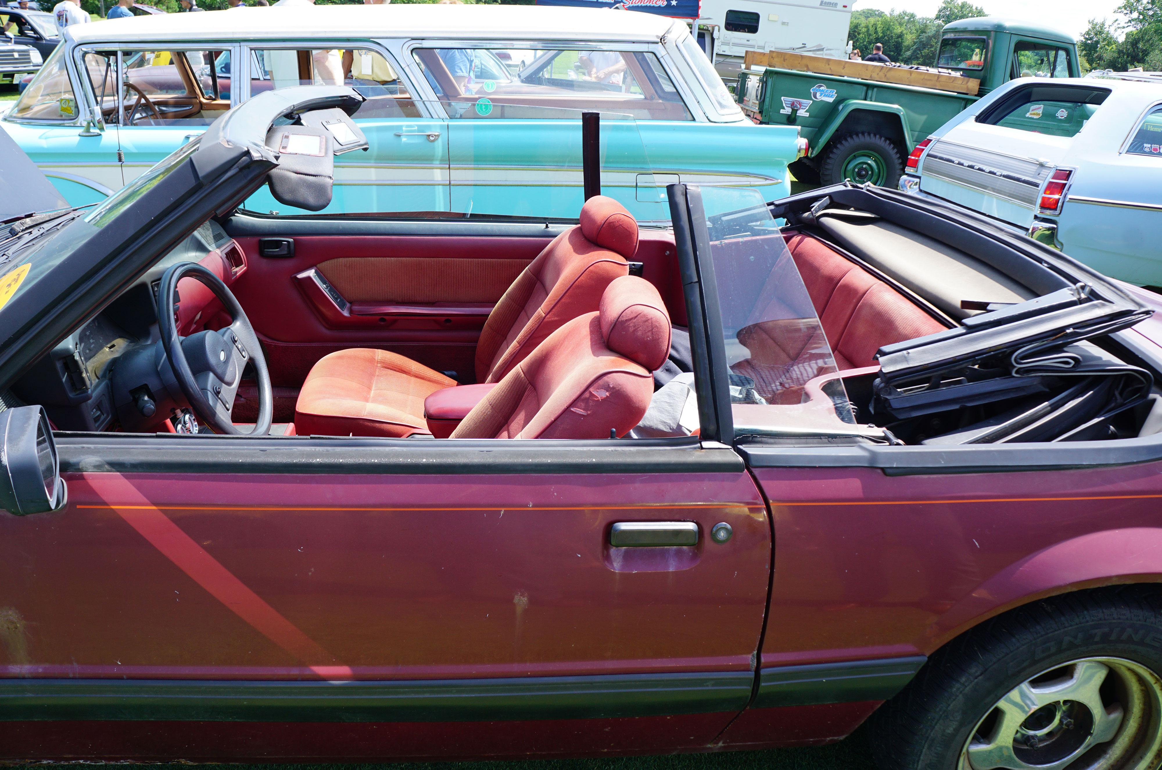 mustang convertible window rear up