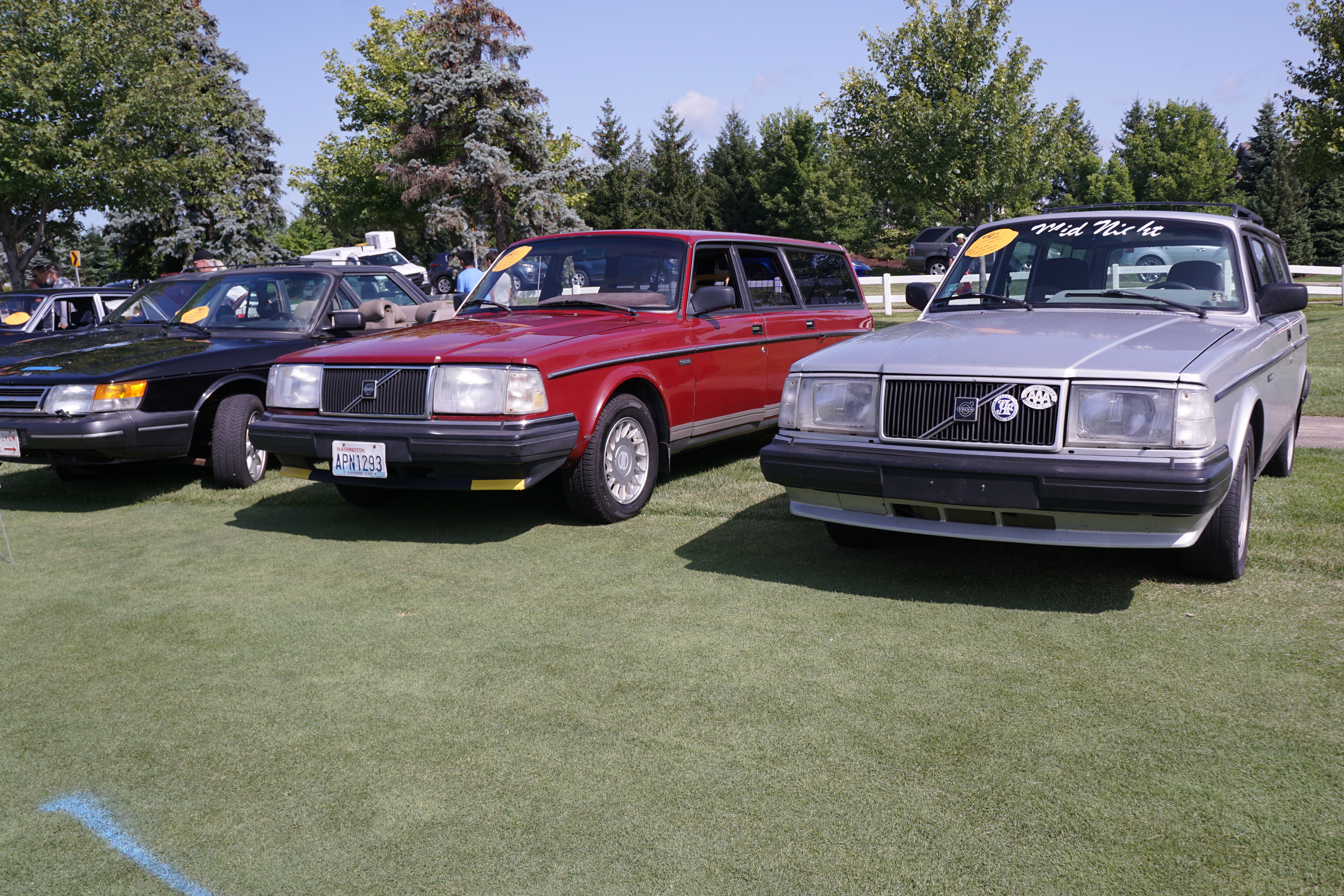 volvo 240 wagon red silver concours lemons 2018
