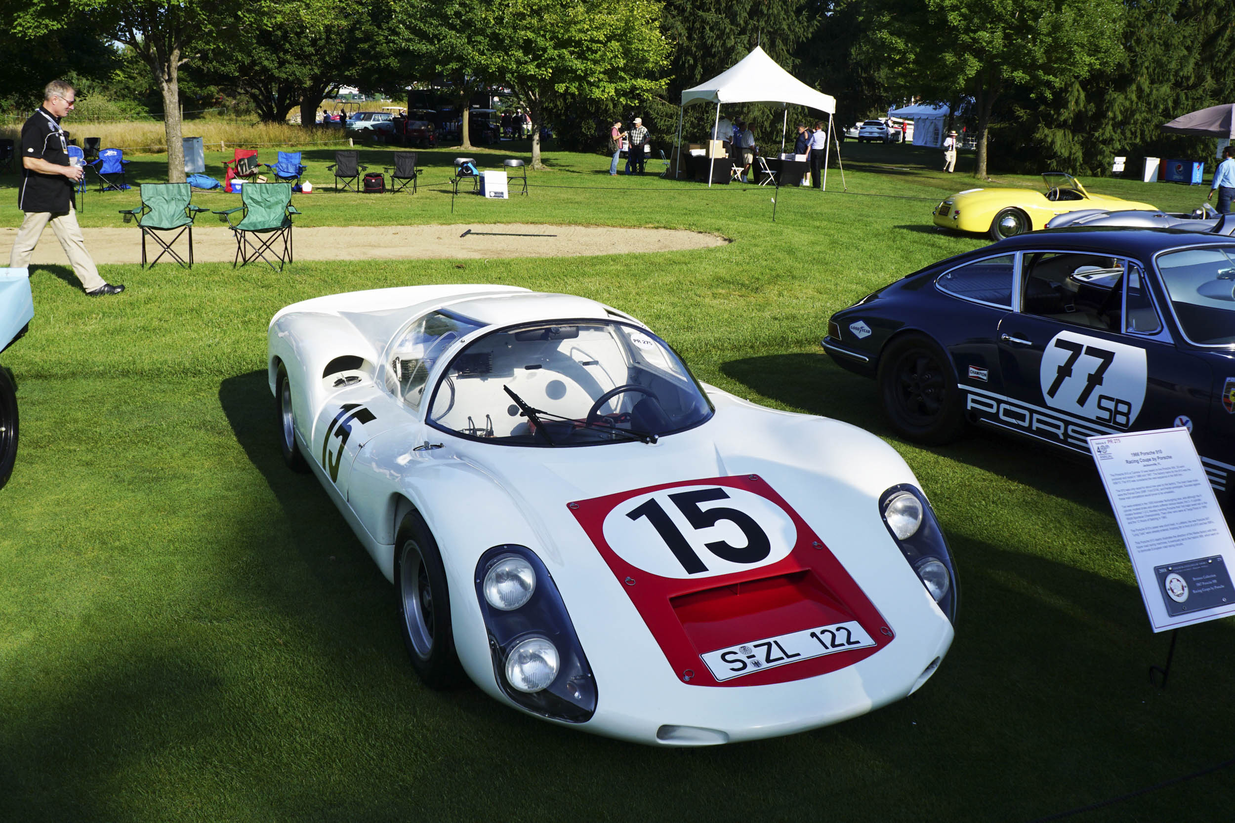 1966 Porsche 910 Racing coupe overhead