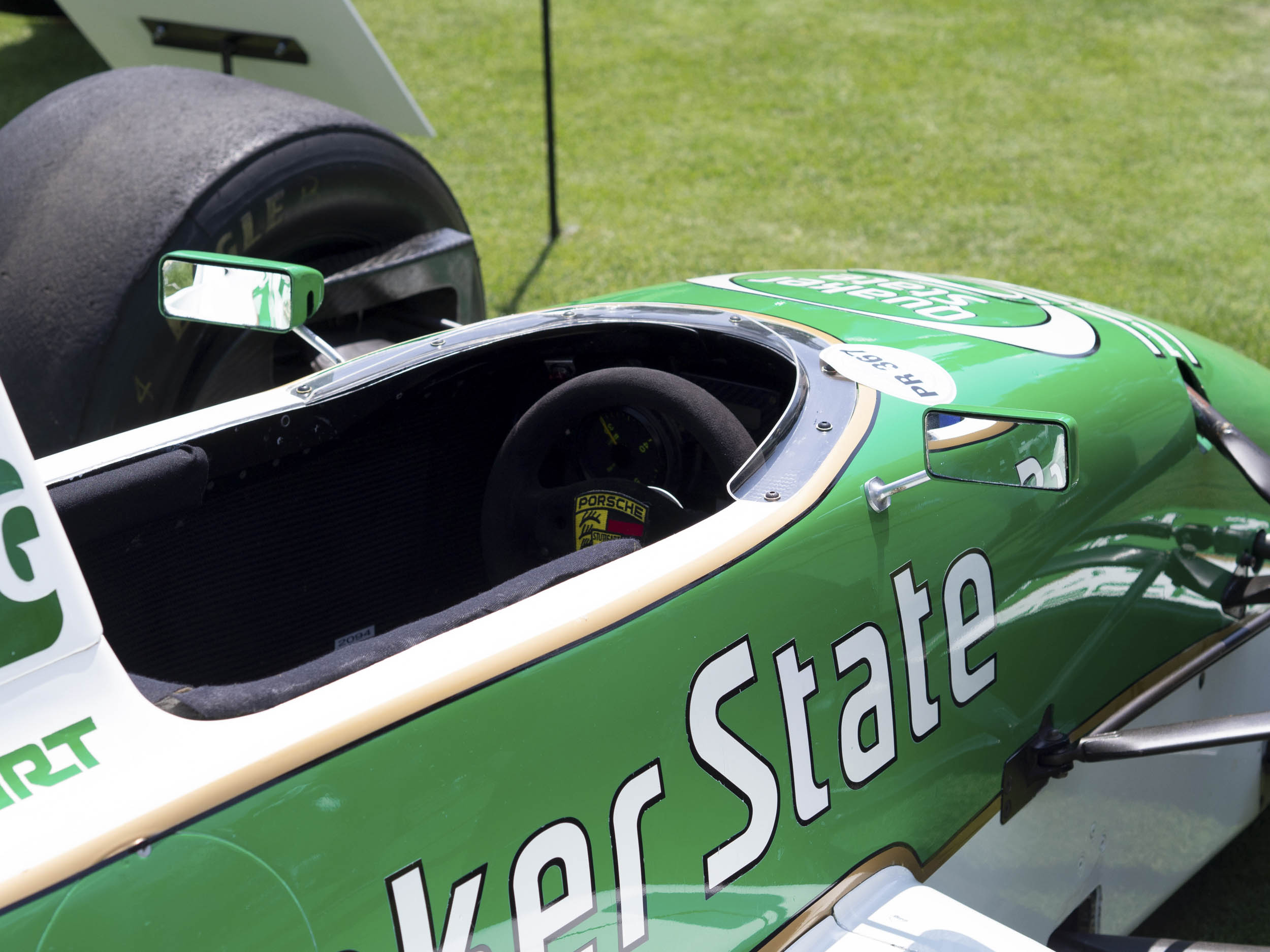 1989 Porsche Indy - Quaker State by March cockpit