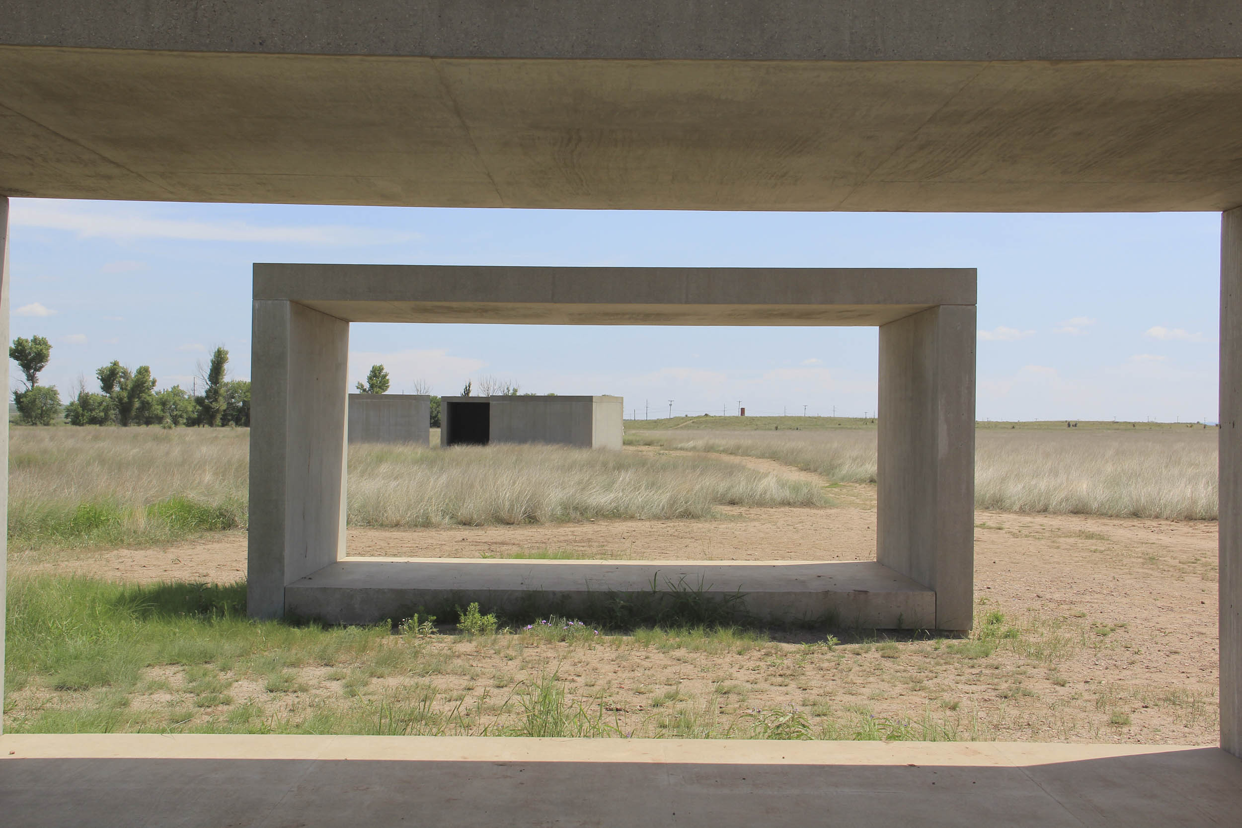 small town in Chihuahuan Desert with concrete sculptures