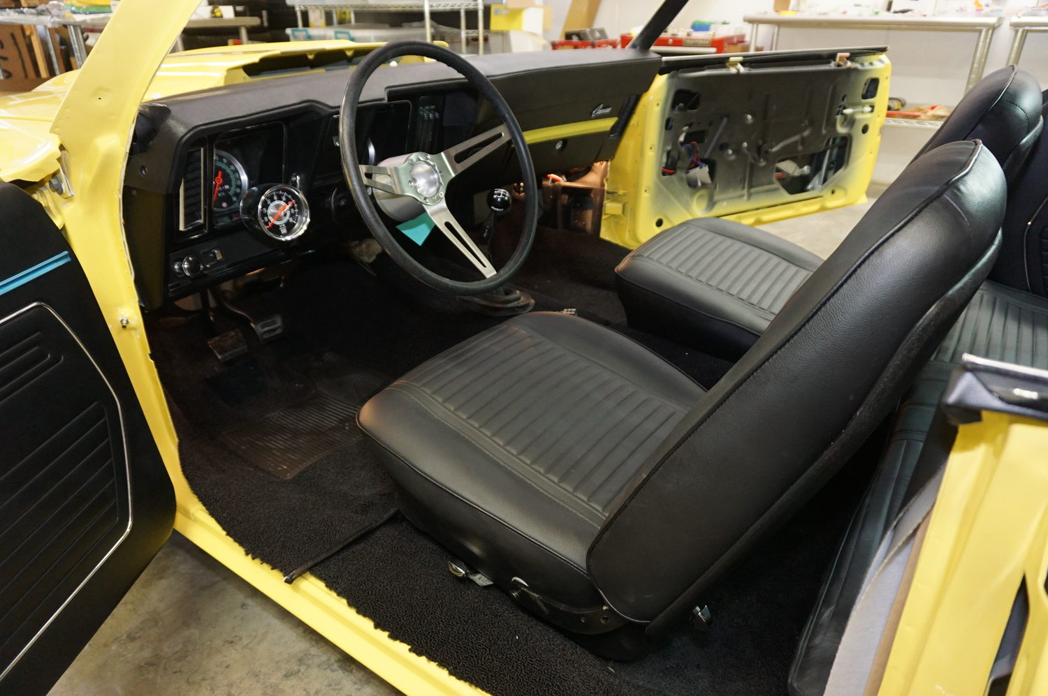 The Yenko's interior coming together. This one has a five-speed.