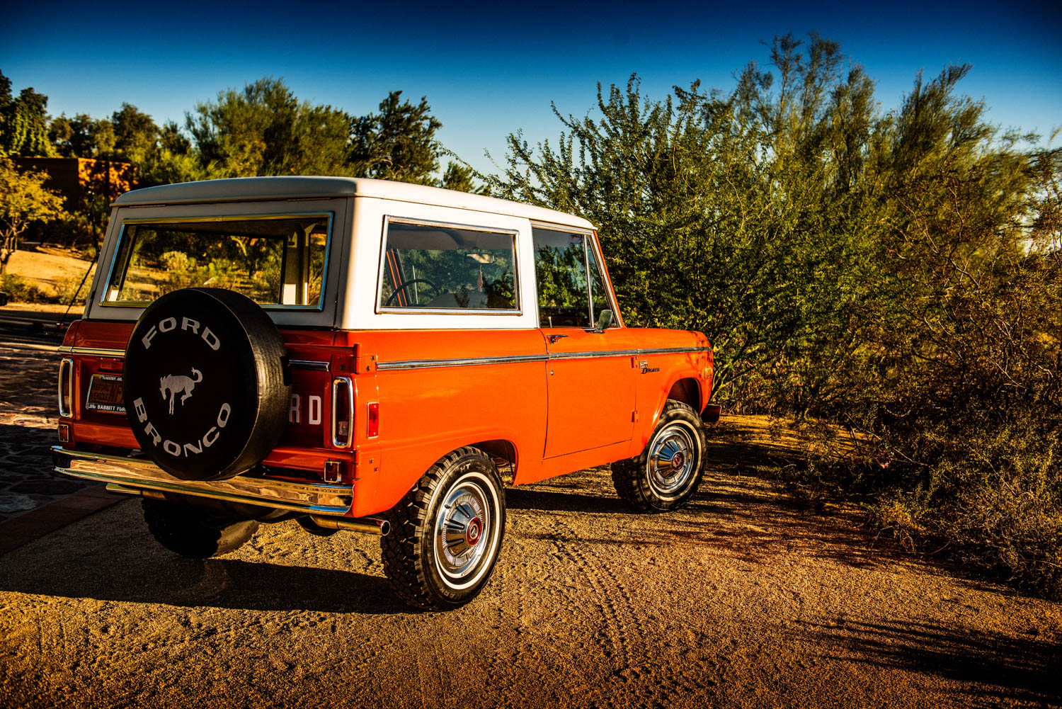 1977 Ford Bronco rear 3/4 desert