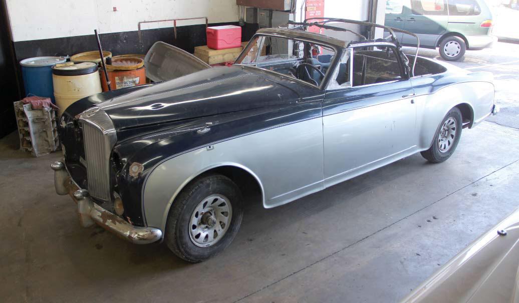 1958 Bentley Saddam Hussein restoration front 3/4