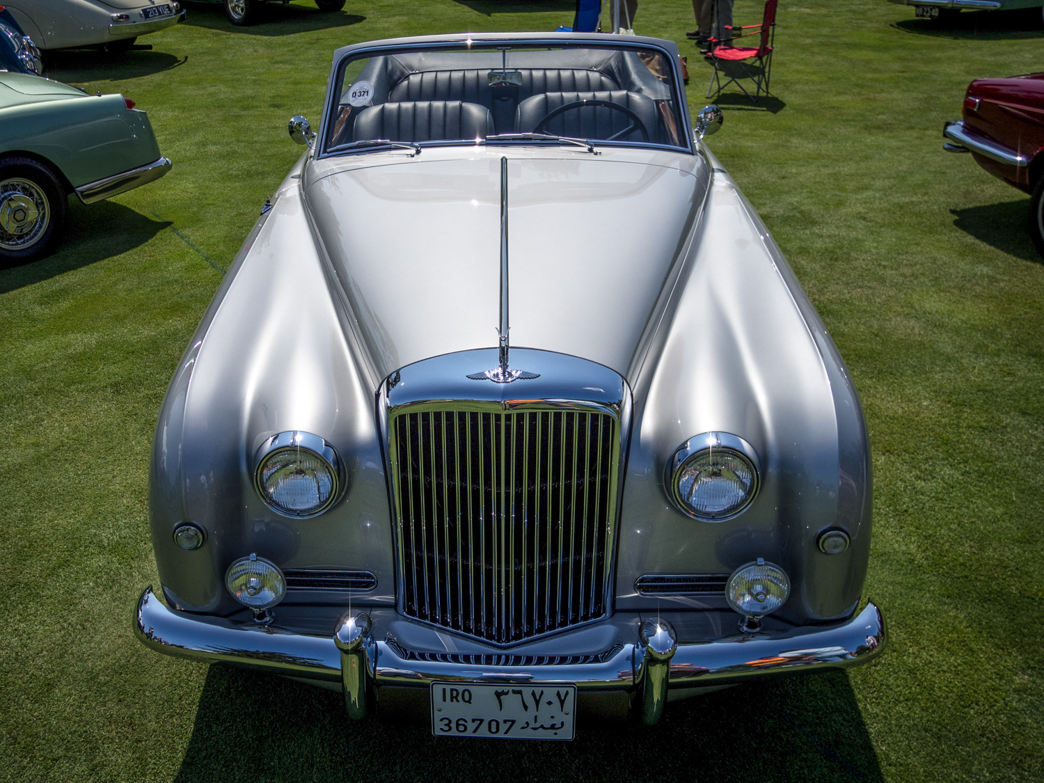 1958 Bentley Saddam Hussein bullets front straight on