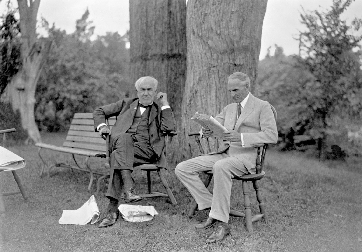 Henry Ford and Thomas Edison meeting