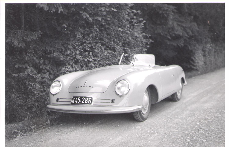 The Porsche 356 001 in the Winterthur/Tagelswangen area