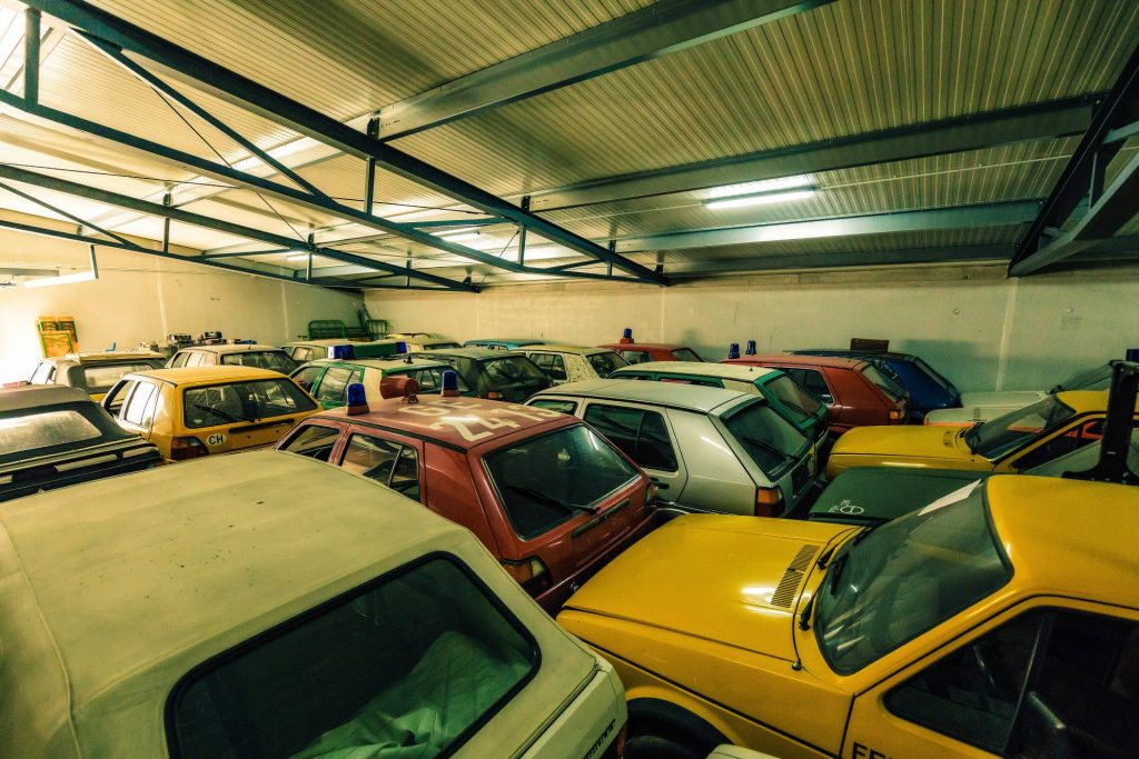 vw golf collection warehouse dusty cars