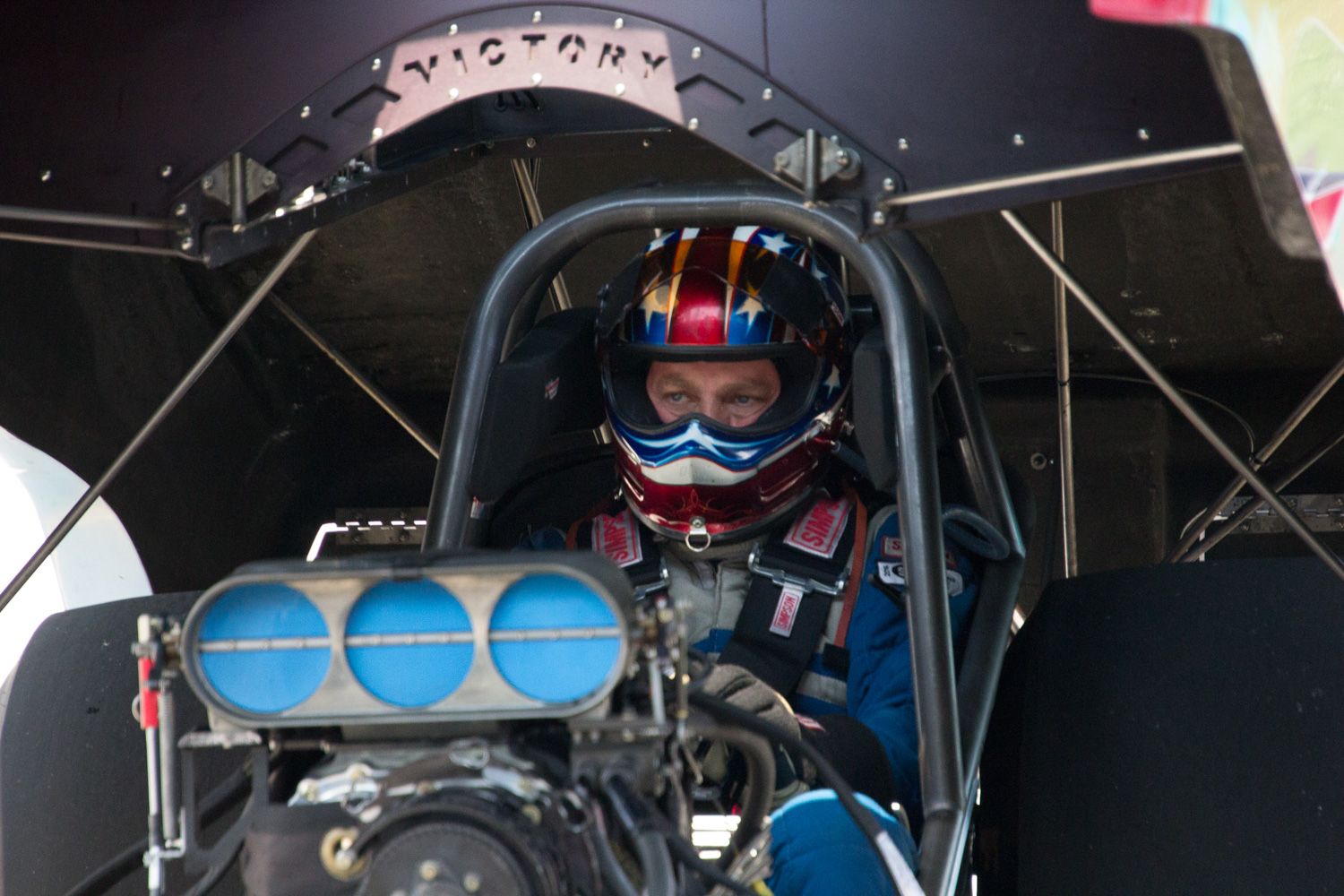 Dan Horan Jr. in his Funny Car